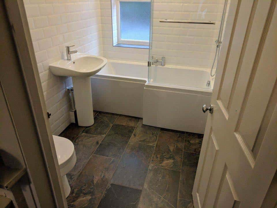 White Brick Tile Bath and Pot Set – Kitchen Bathroom Creations
